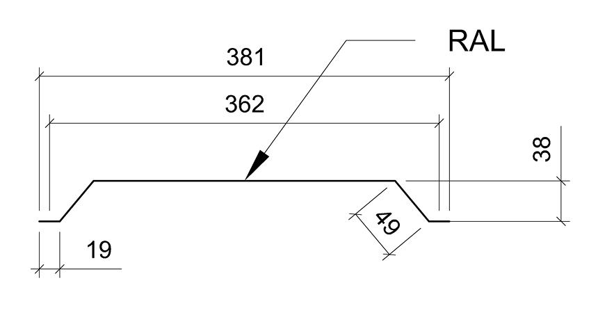Сечение панели комплект