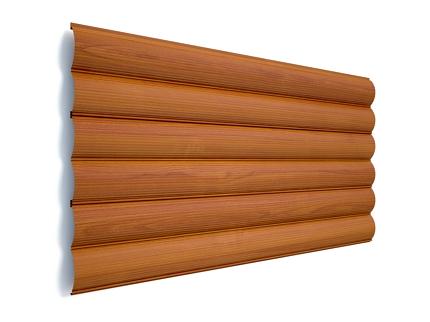 Сруб деревянный в сборке цвет клён
