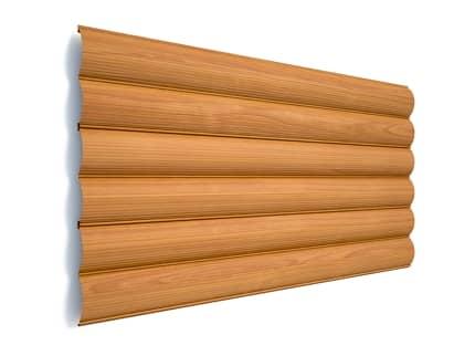 Сруб деревянный в сборке цвет ольха