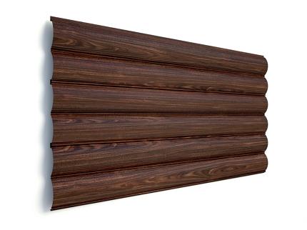 Сруб деревянный в сборке цвет венге
